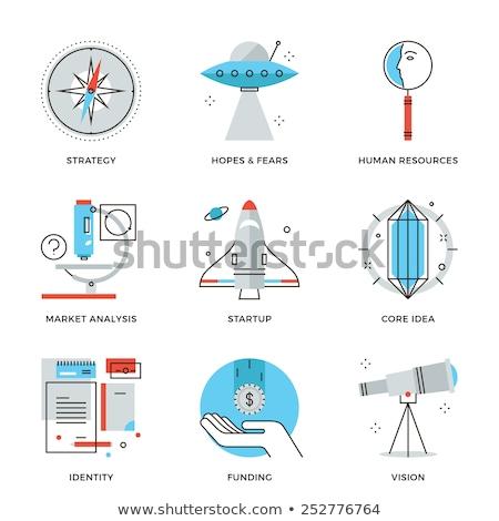 Startup Key Elements Flat Design Icon Stock photo © WaD