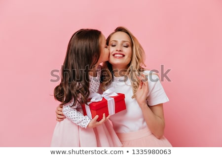 Sweet Young Girl With Her Birthday Present Stock photo © dash