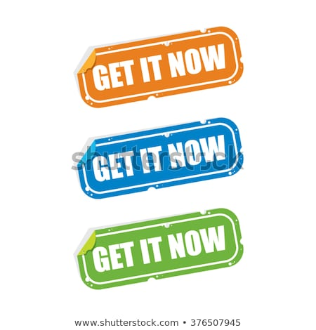 Get Now Green Vector Icon Design Stock photo © rizwanali3d