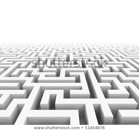 High quality illustration of a large maze or labyrinth Stock photo © teerawit