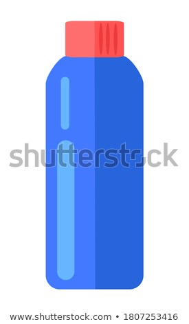 Cosmetic Or Hygiene Blue Lid Plastic Bottle Of Gel, Liquid Soap, Lotion, Cream, Shampoo Stock photo © netkov1