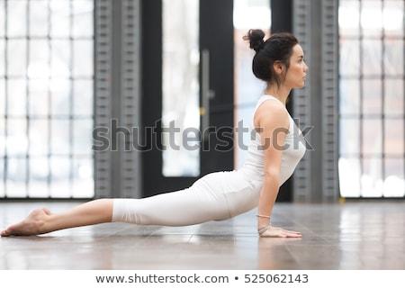 The Full Sun Salutation Yoga Pose Stock photo © kentoh