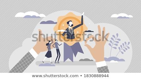 Kaktüs adam ayakta dışarı diğer Stok fotoğraf © eleaner