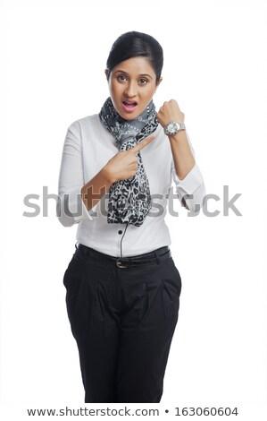 indio · mujer · de · negocios · mano · boca · adulto · mujer - foto stock © imagedb