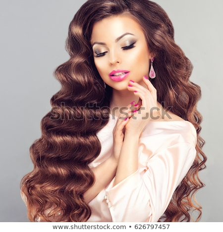 Aristocratic Fashion Model with Healthy Perfect Hair Stock photo © gromovataya