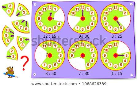 Foto stock: Tiempo · rompecabezas · lugar · que · falta · piezas · texto