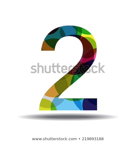 Stock photo: 2 Number Circular Vector Green Web Icon Button