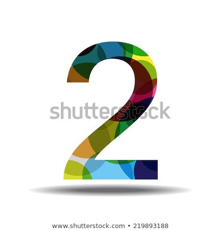 Stock photo: 2 Number Circular Vector Green Web Icon Button