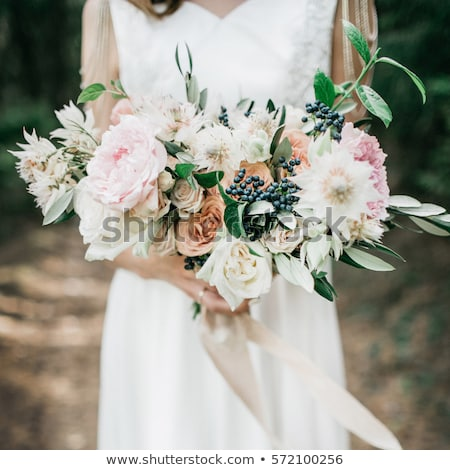 Wedding bouquet of ranunculus and peony Stock photo © dariazu