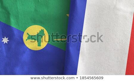 França natal ilha bandeiras quebra-cabeça isolado Foto stock © Istanbul2009