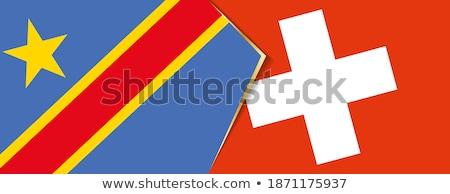 ストックフォト: スイス · 民主的な · 共和国 · コンゴ · フラグ · パズル