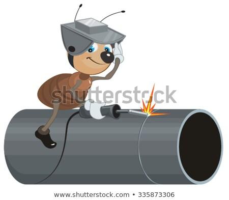 Hangya hegesztő cső izolált illusztráció vektor Stock fotó © orensila