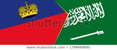 Saudi Arabia and Liechtenstein Flags Stock photo © Istanbul2009