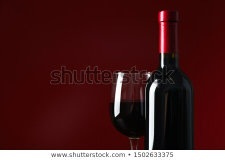 şarap kadehi siyah renkli kırmızı mavi kök Stok fotoğraf © ndjohnston