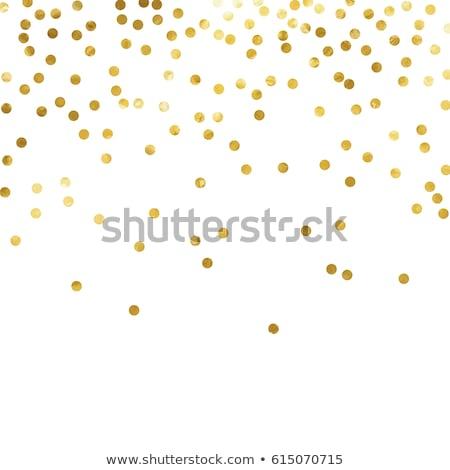 Or confettis à pois heureux métal tissu Photo stock © gladiolus