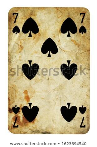 giocare · carta · sette · picche · isolato · bianco - foto d'archivio © bigalbaloo