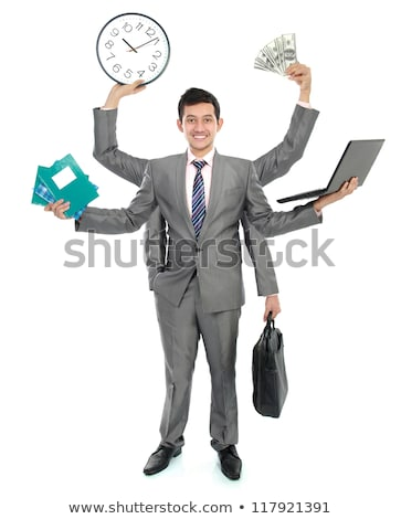 Young asian businessman with six hands stock photo © Paha_L