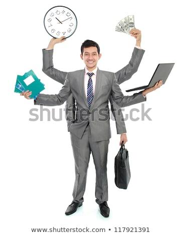Stock fotó: Fiatal · ázsiai · üzletember · hat · kezek · munka