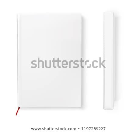 Vuota carta libretto vista laterale isolato bianco Foto d'archivio © cherezoff