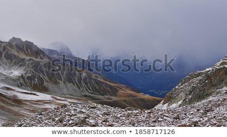 Panorámakép kilátás felső állomás Kaukázus hegyek Stock fotó © BSANI