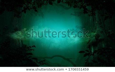 Crooked tree in the mist Stock photo © Kotenko