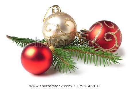 クリスマス グループ 孤立した 白 スペース 赤 ストックフォト © plasticrobot