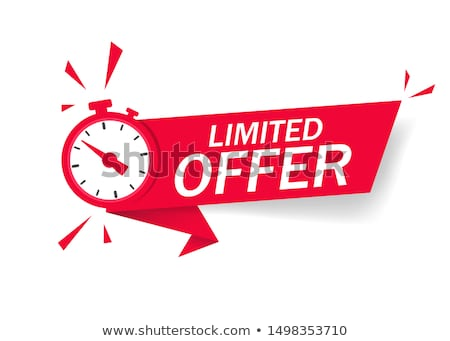 Limited Red Vector Icon Design Stock photo © rizwanali3d