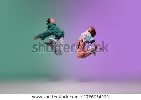 modern · stílusú · táncos · ugrik · sportos · energia · fitnessz - stock fotó © master1305