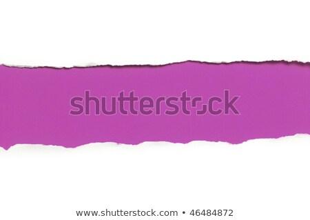 vel · gescheurd · papier · witte · papier · abstract · gebroken - stockfoto © Paha_L