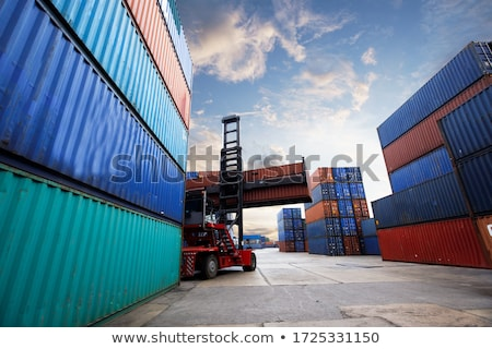 груза · порта · суда · промышленных · порт · район - Сток-фото © lightsource