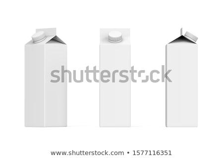 ミルク ジュース カートン ボックス スペース 青 ストックフォト © shutswis