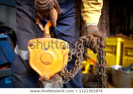 Heavy metal cadeia pesado enferrujado metal isolado Foto stock © Digifoodstock