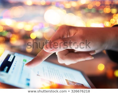 Modern touch screen tablet Stock photo © Alsos