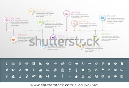 Zaman Çizelgesi şablon etiket stil ayarlamak simgeler Stok fotoğraf © liliwhite