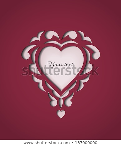 ruby heart shaped with text vector illustration stock photo © maxpainter