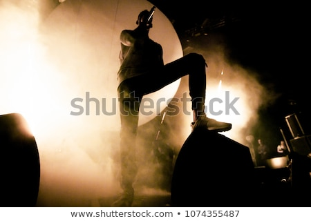 Rapper concert Rock chanteur parler foule Photo stock © nicemonkey
