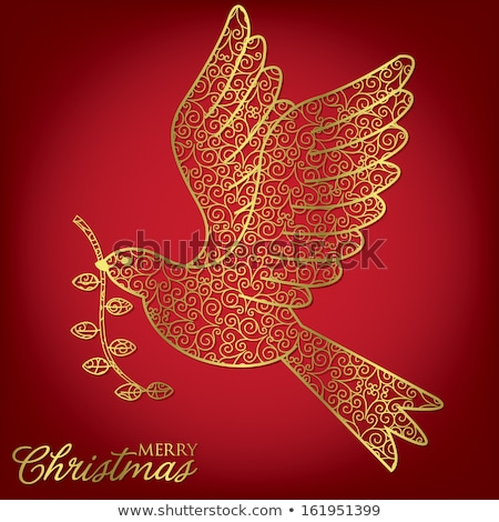 Elegant filigree Christmas card in vector format. Stock photo © piccola