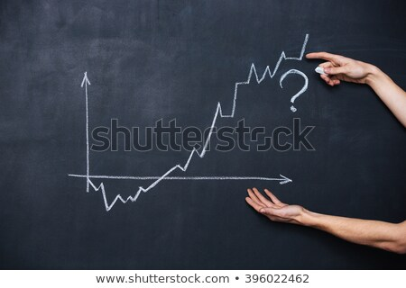 Graph showing uncertainty drawn on blackboard Stock photo © deandrobot