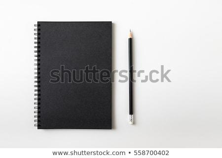 Czarny notatnika otwarte odizolowany biały biuro Zdjęcia stock © romvo
