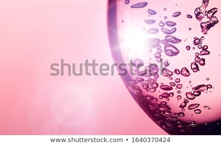 Glas Wasser Flasche Frühling Silhouette Drop Stock foto © alex_l