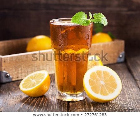 Cool · чай · со · льдом · идеальный · пить · горячей - Сток-фото © hansgeel