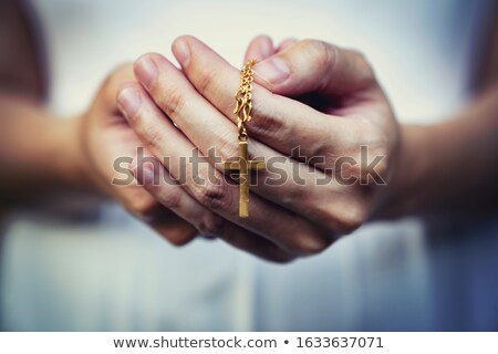 Prayer with rosary  Stock photo © zurijeta