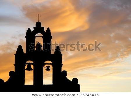 миссия колокола башни силуэта исторический испанский Сток-фото © lincolnrogers