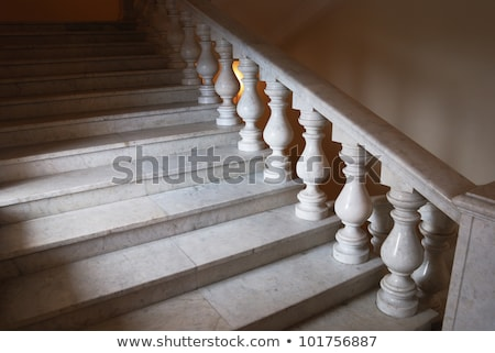 ancient marmoreal stairs with balusters Stock photo © olykaynen