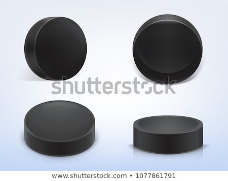 Hockey puck on white  Stock photo © magraphics