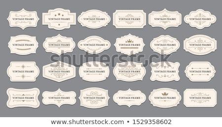 vieux · brun · vecteur · rétro · vintage · bouclier - photo stock © darkves