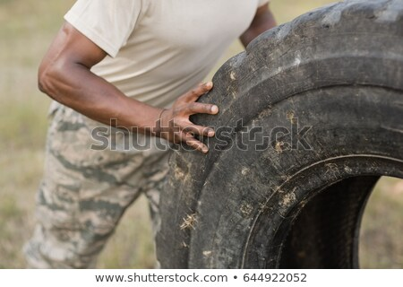 Muscular Soldier Stock photo © MilanMarkovic78