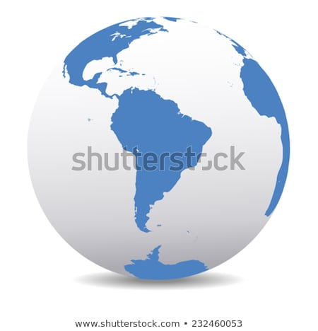 South America and South Pole Global World Stock photo © fenton