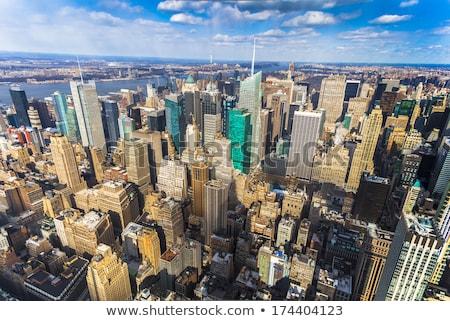 Széles látószögű kép New York Manhattan égbolt víz Stock fotó © magann