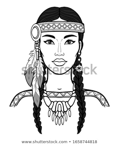 Girl native american indian Stock photo © bluering